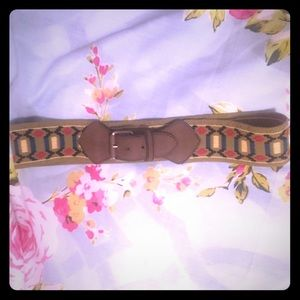 embroidered vegan waist belt